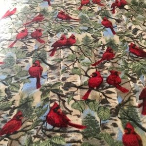 Cardinal Throw Blanket with wide self Fringe 50x60